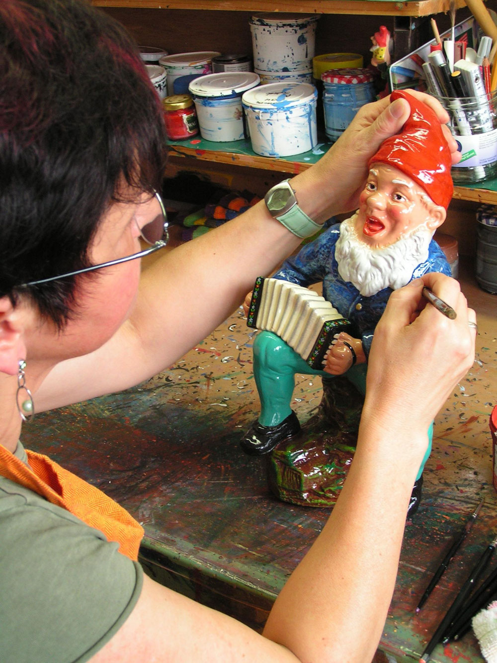 Gnome Being Painted