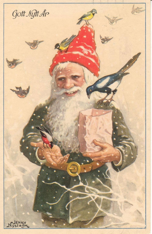 Santa Gnome Postcard